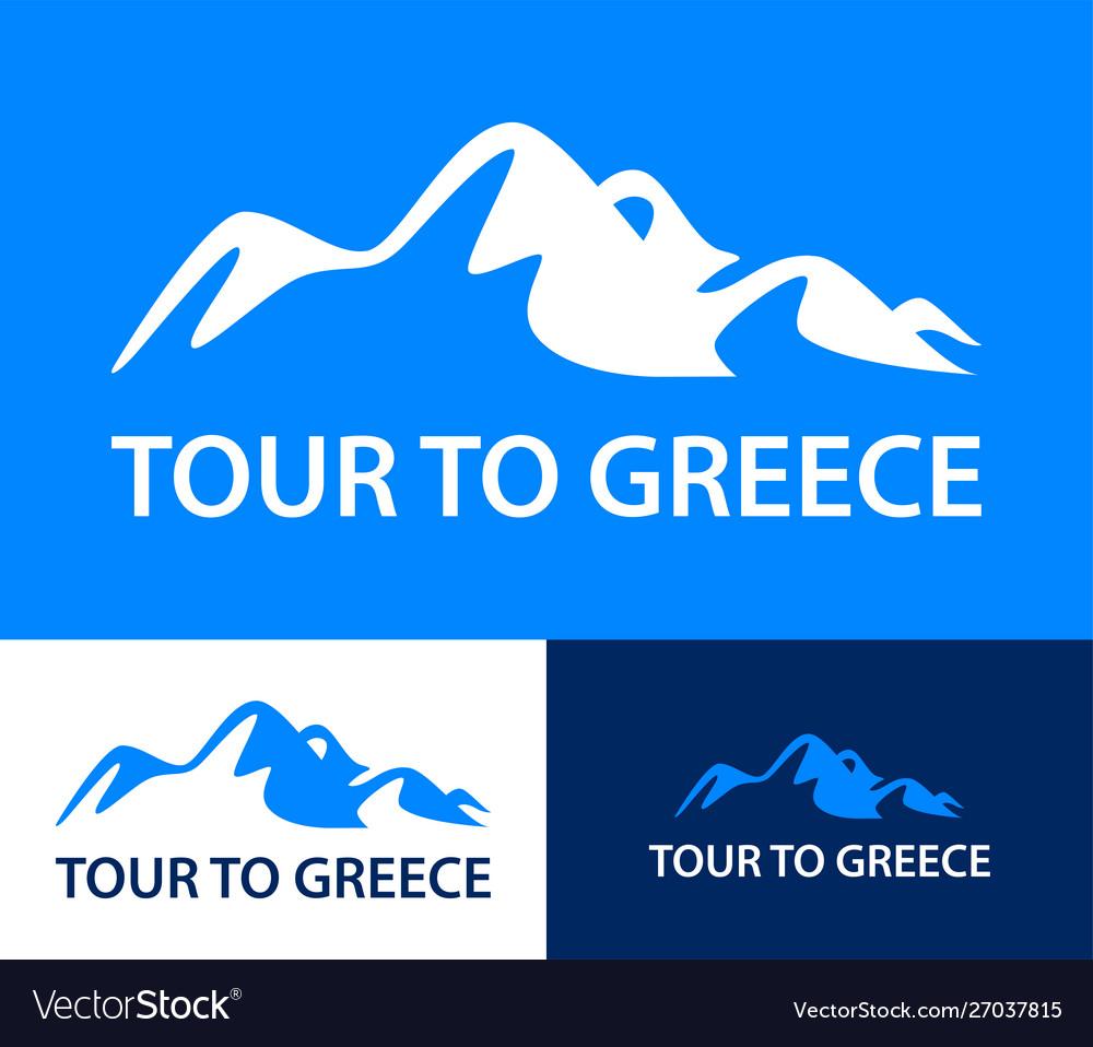 Set logo templates for a tours to greece
