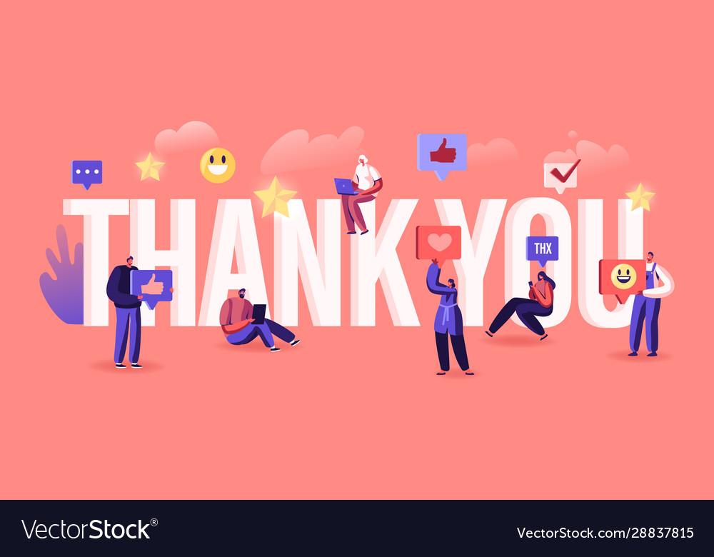 Thank you concept grateful blogger or media