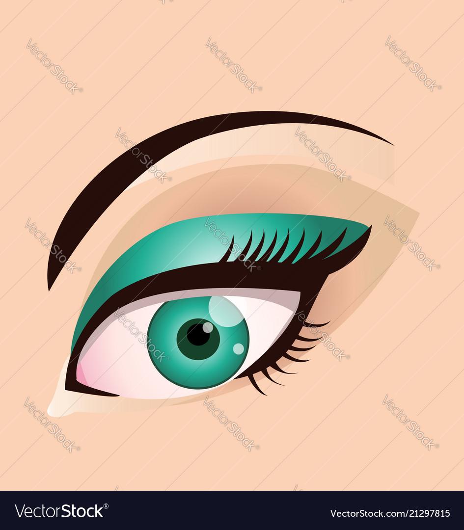 Woman eye makeup beauty