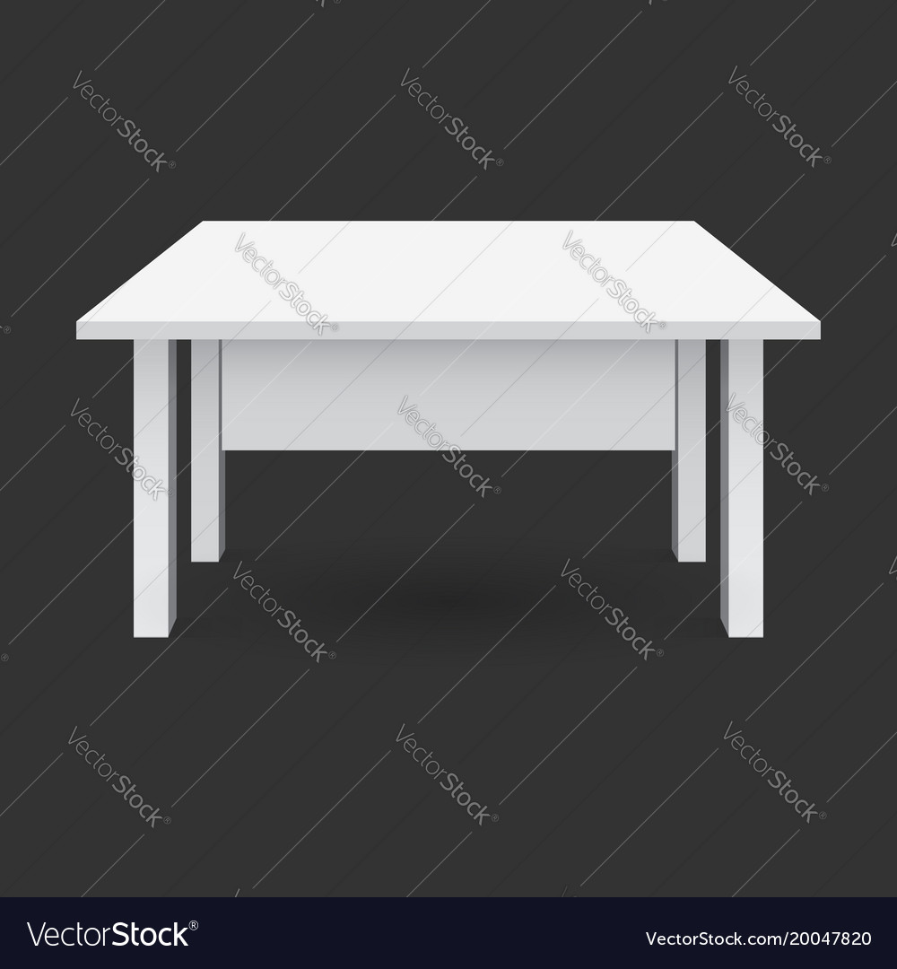3d table for object presentation empty white top