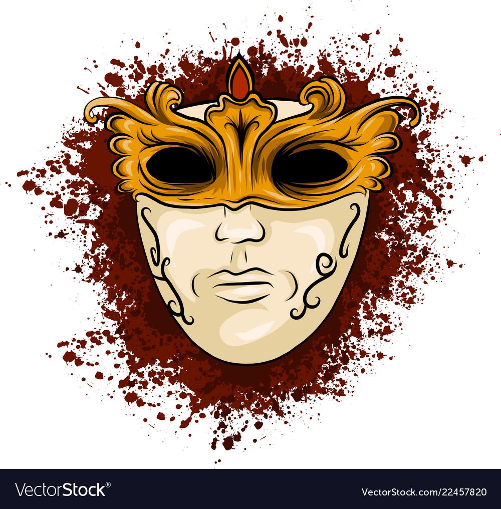 Carnival golden mask for