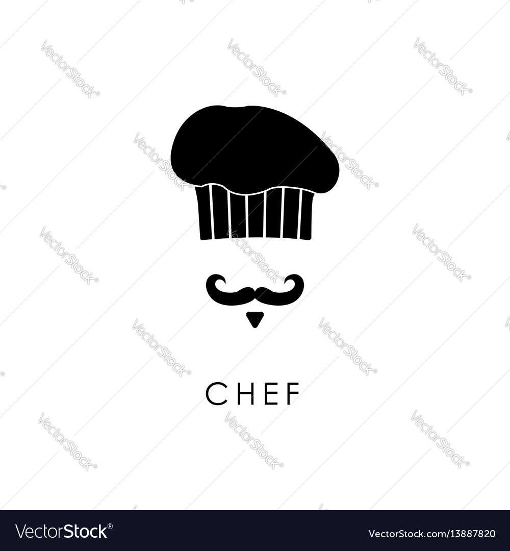 Chef with mustache and hat vector image