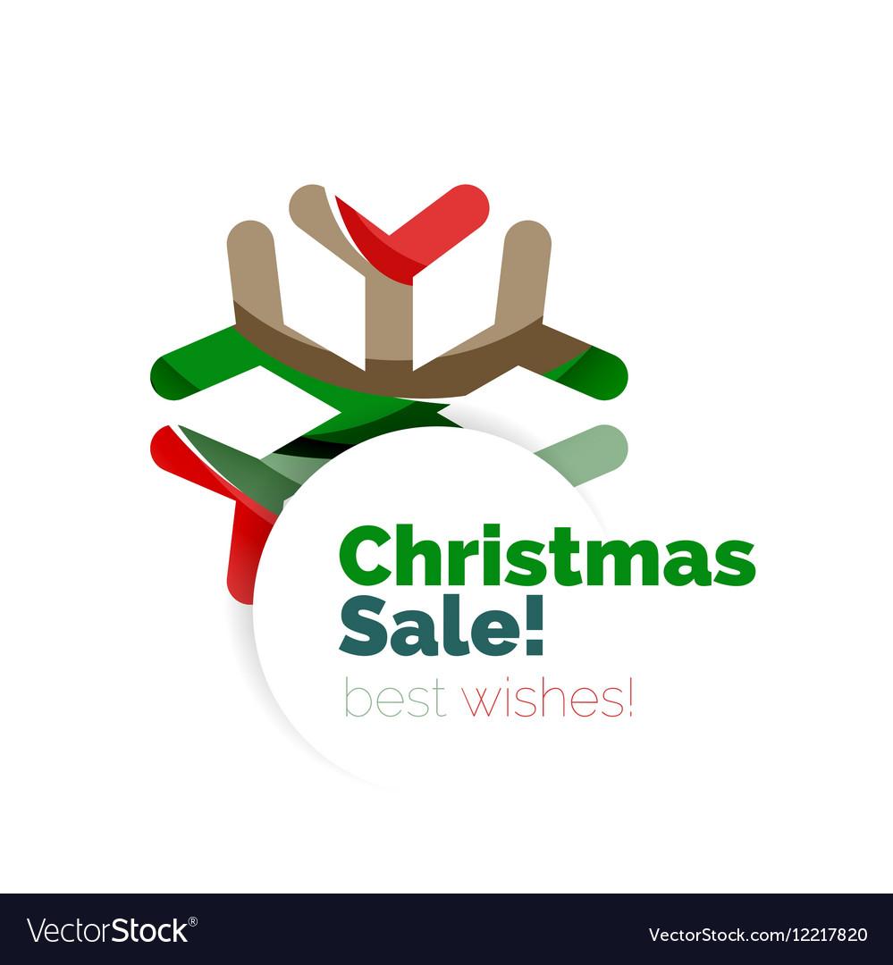 Christmas geometric abstract sale promo banner