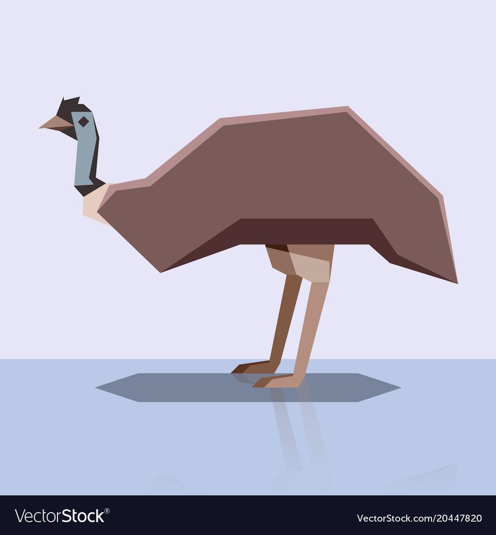 Flat design emu