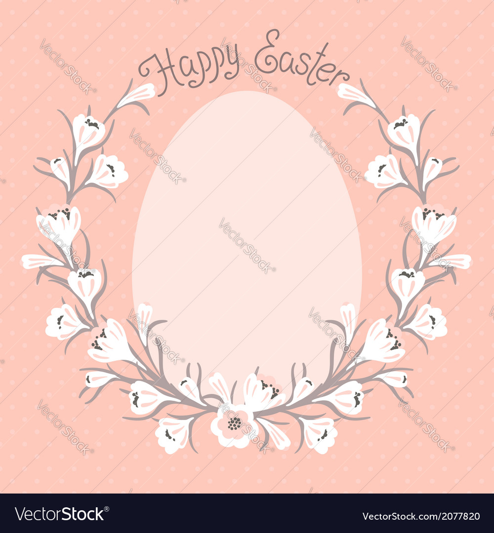 Happy Easter card with place for your text