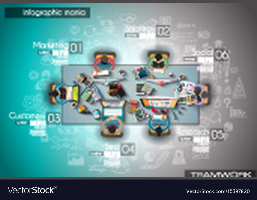 Infograph background template with a temworking vector image