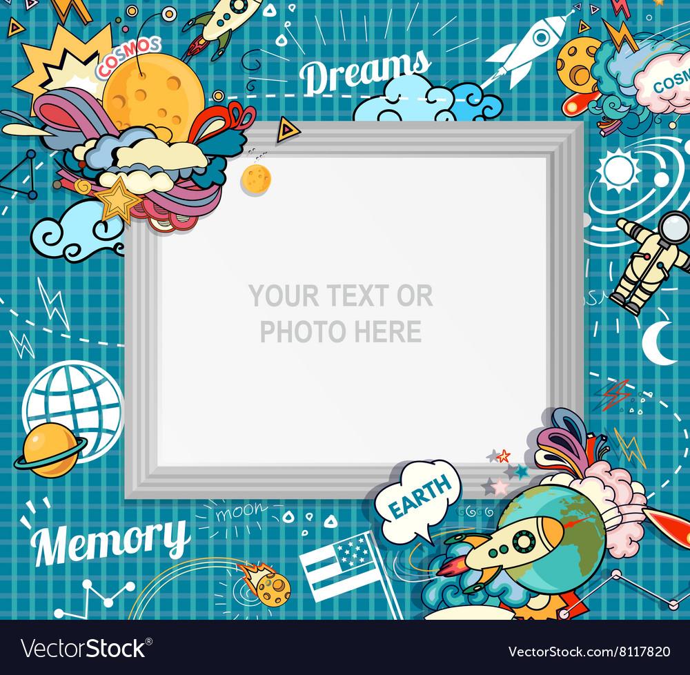 Photo frame concept vector image
