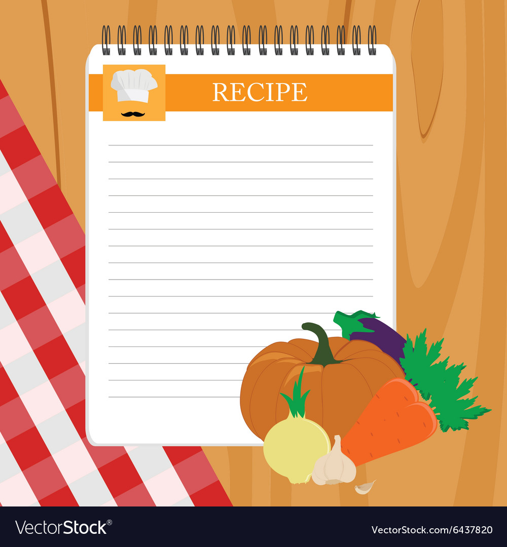 Recipe card vector image