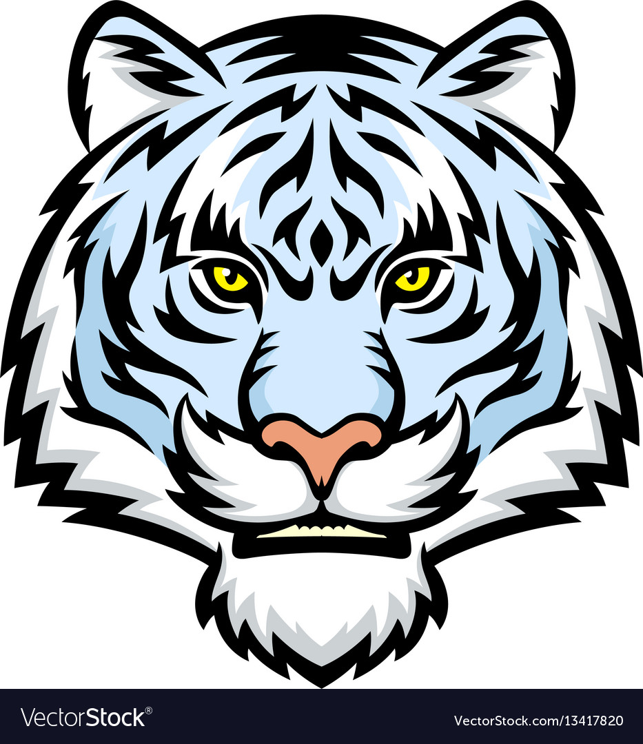 White tiger head logo