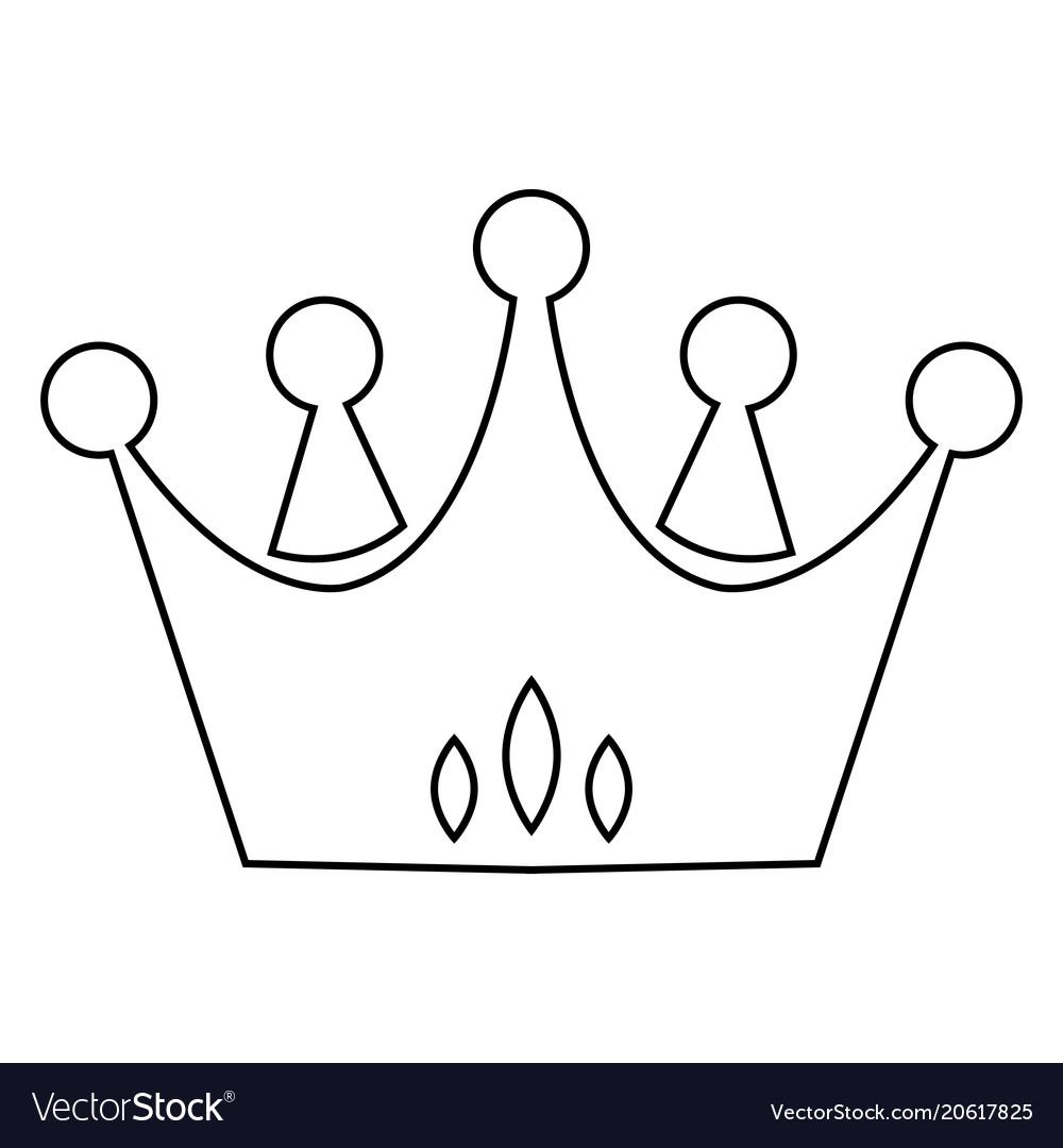 Abstract elegant crown