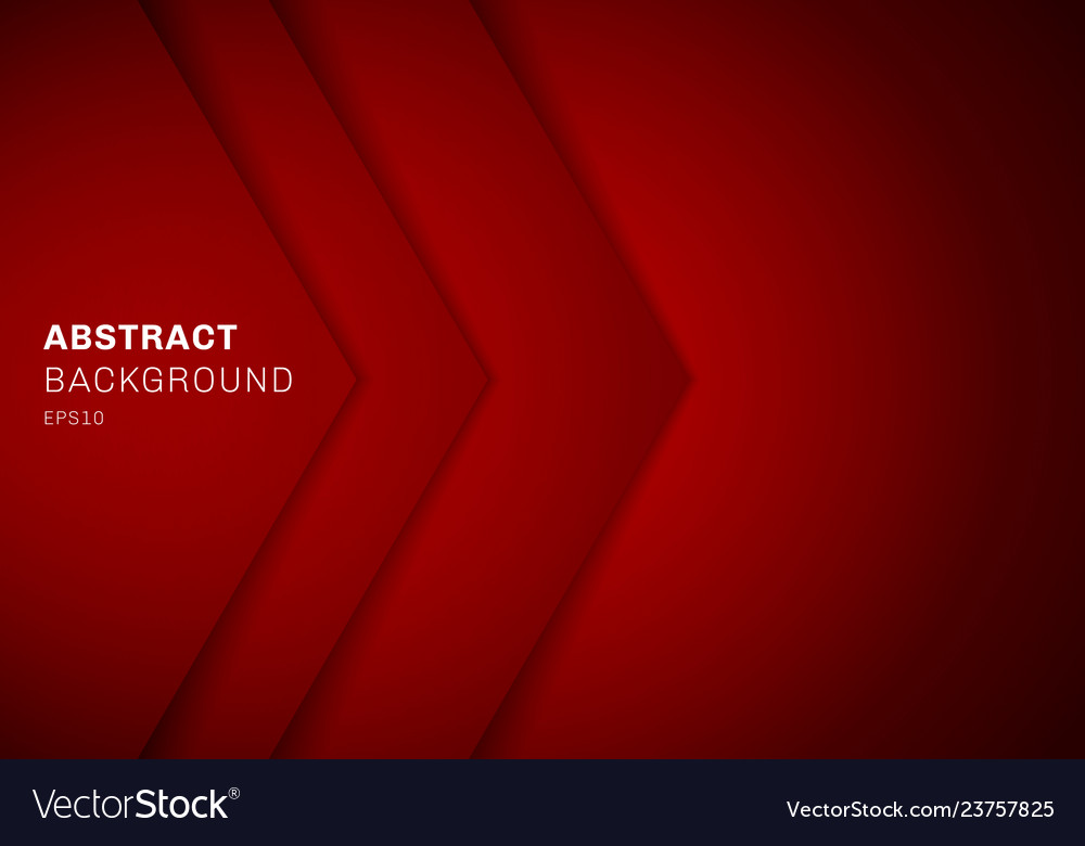 Abstract template 3d red triangle with overlap
