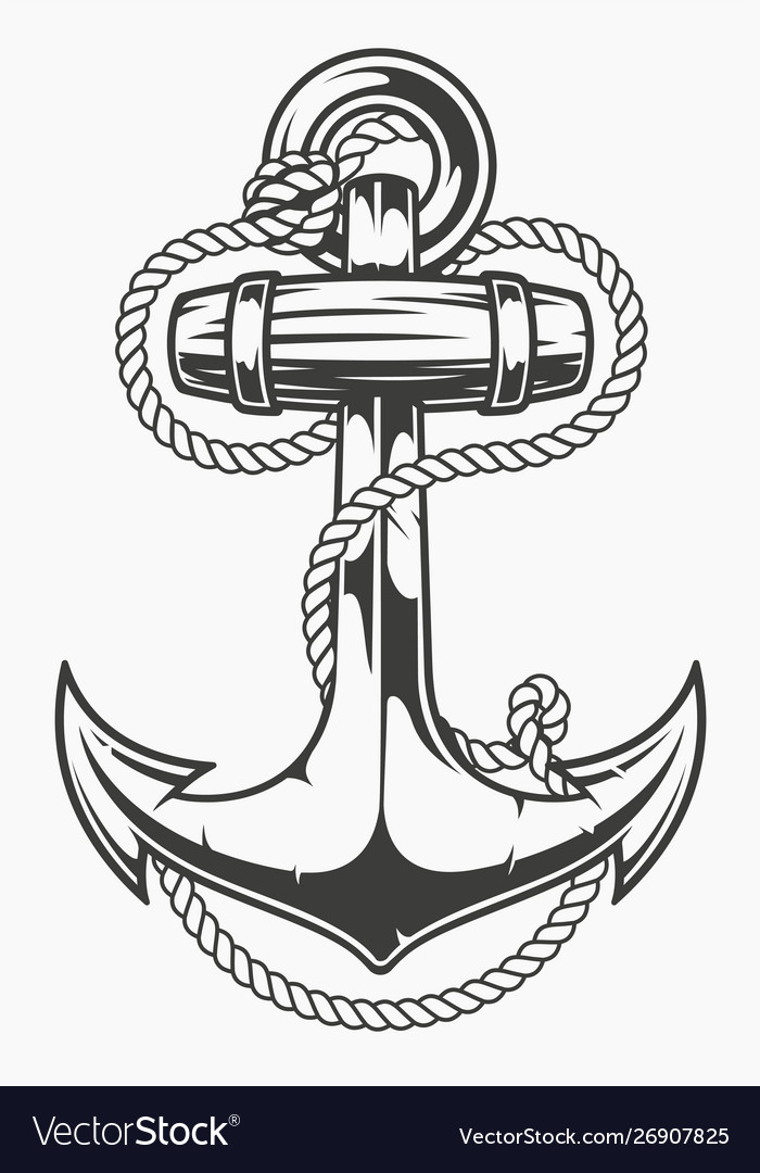 An anchor with rope