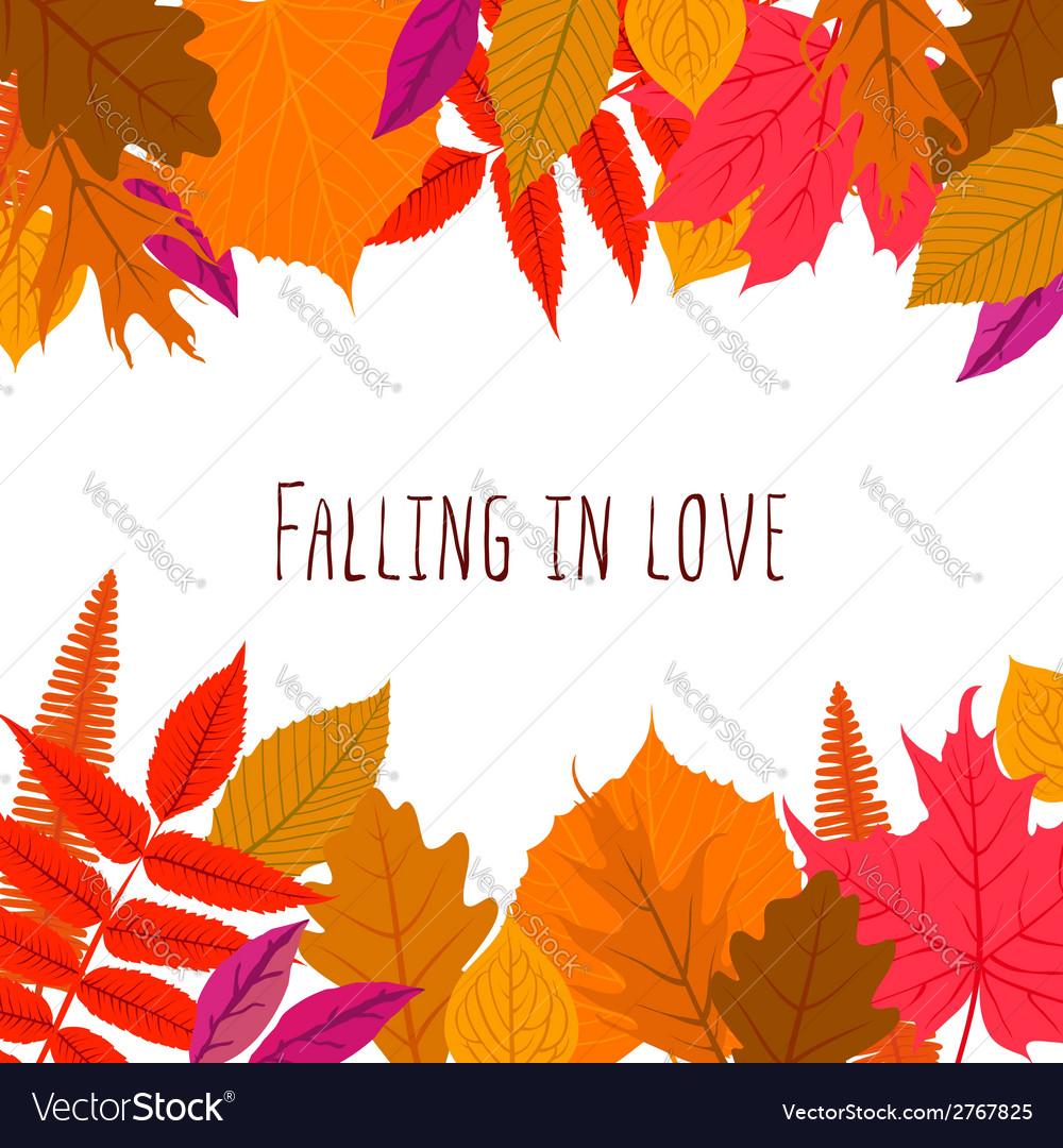 Card with autumn decor