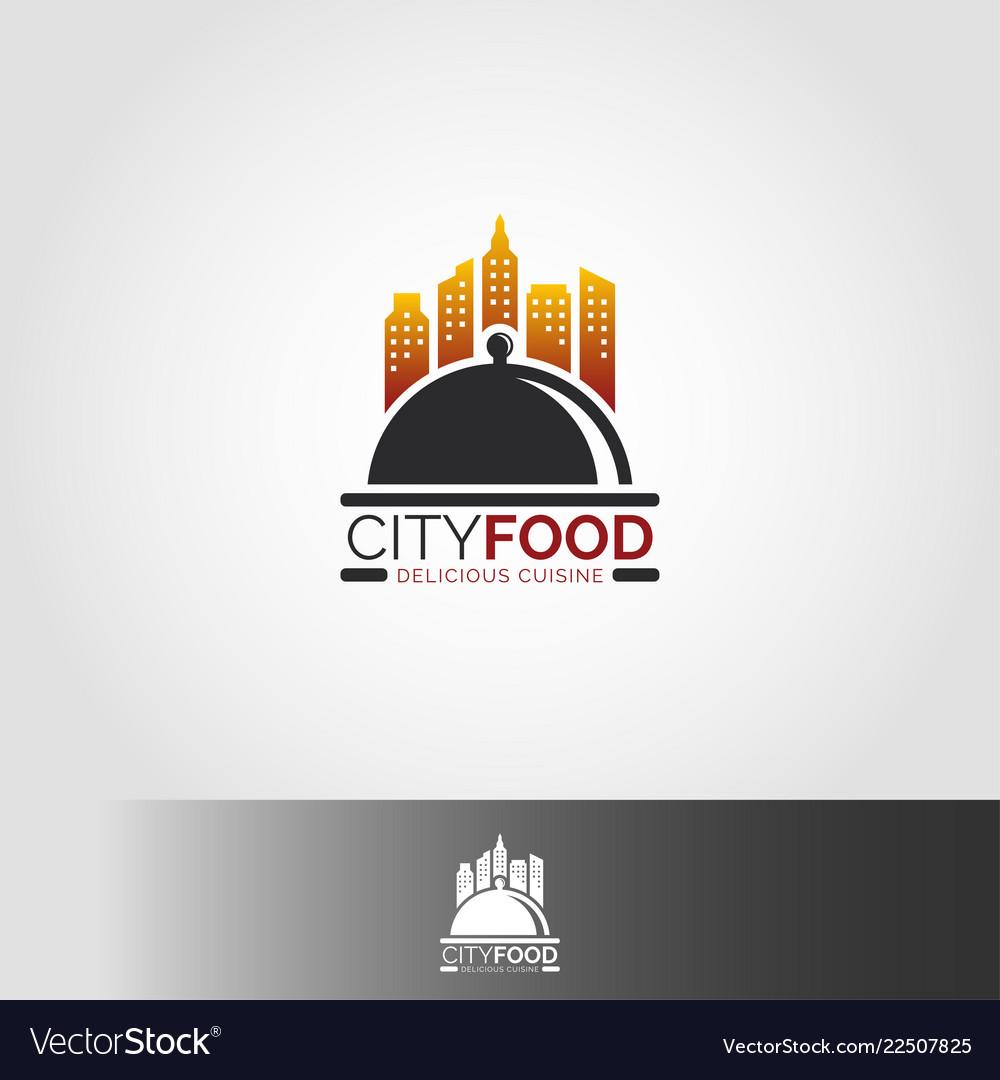 City food restaurant logo template