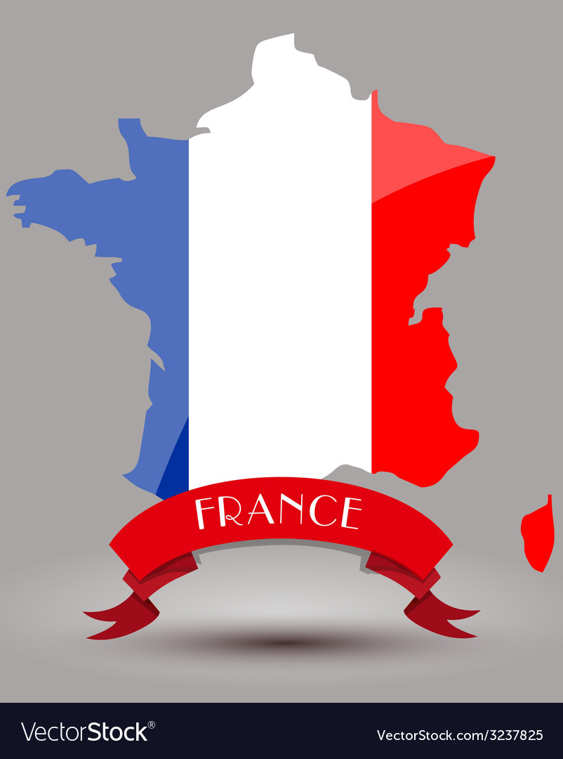 France Map Flag.France Flag Map Royalty Free Vector Image Vectorstock