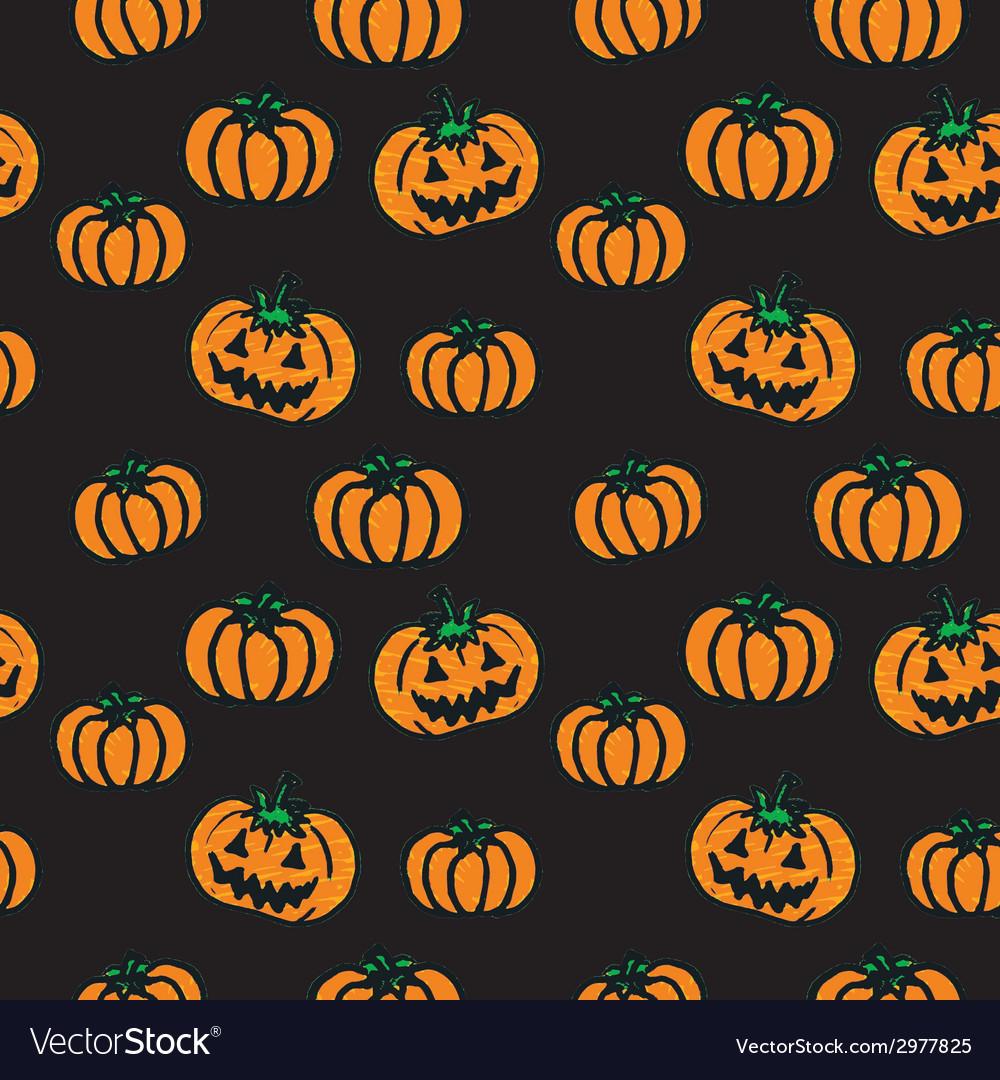 Hand-drawn halloween pumpkins