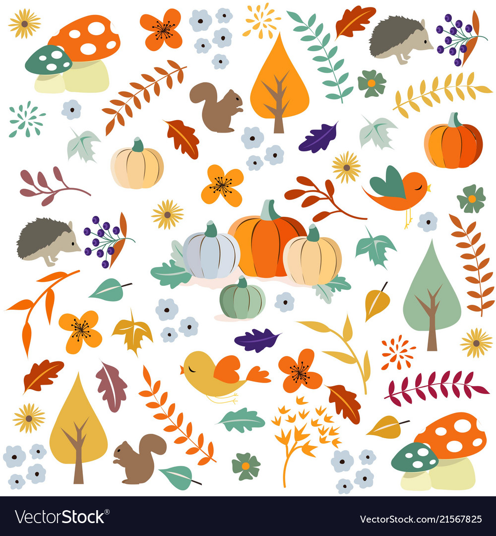 Hello autumn autumn leaves background