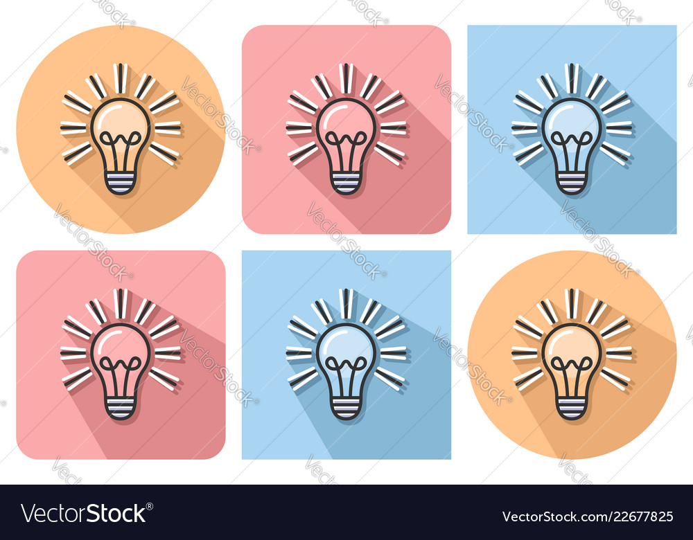 Outlined icon of lamp radiating light with