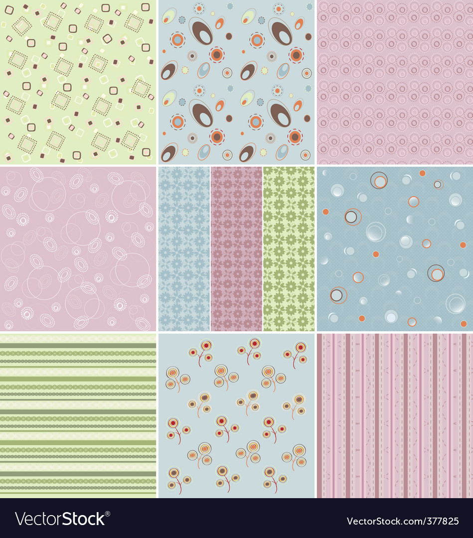 Patterns vector image