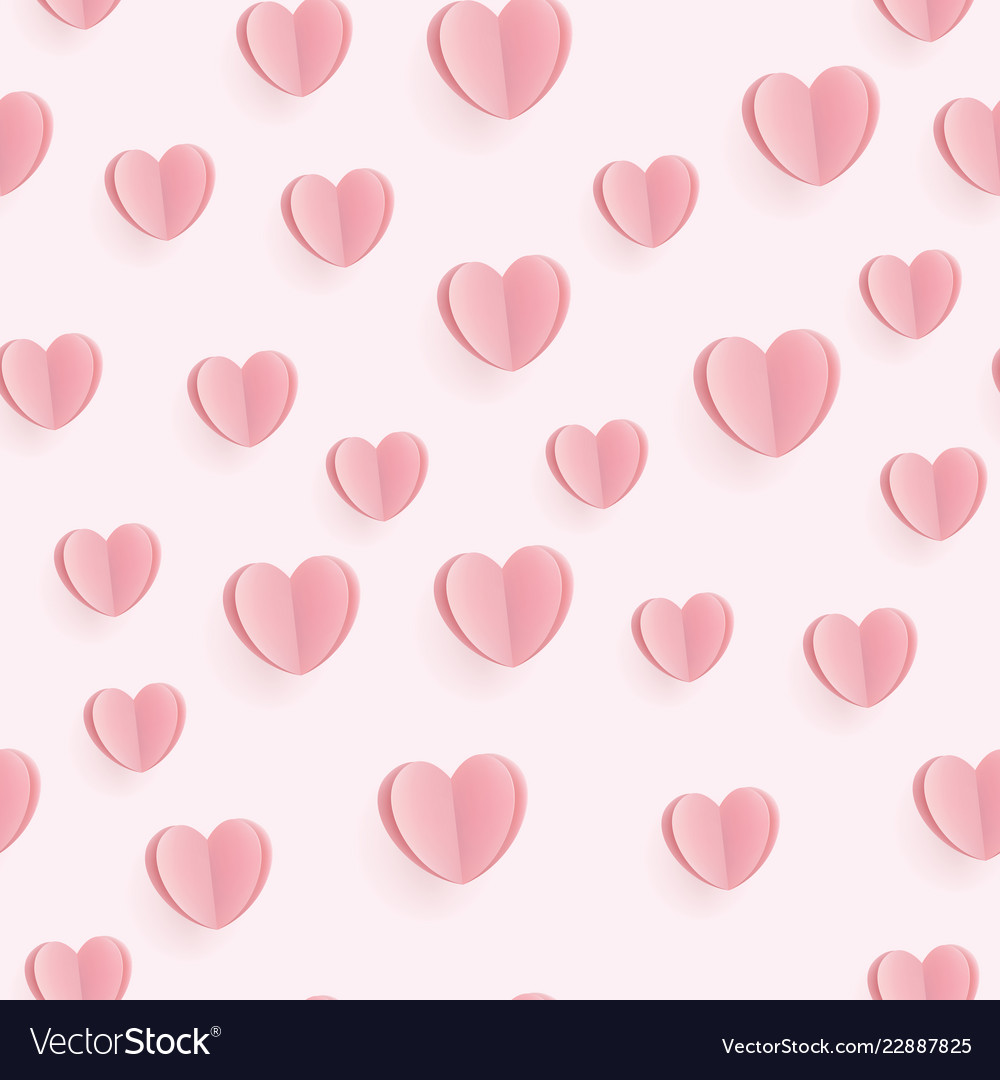Seamless heart pattern ideal for valentine day
