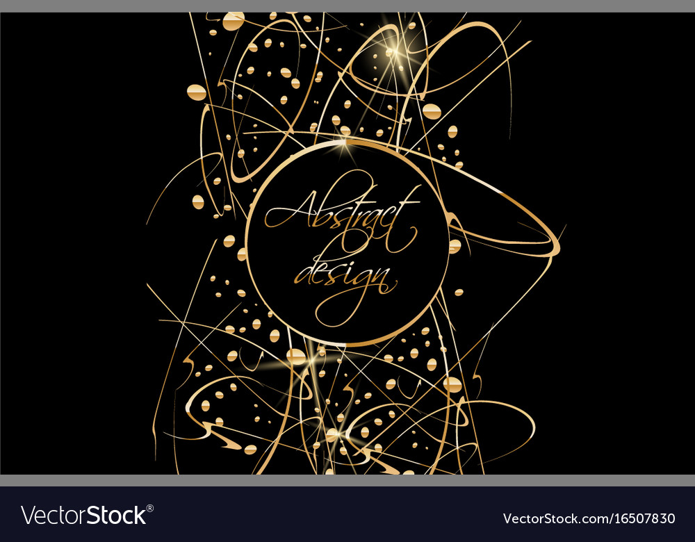 Black background with gold abstract shapes