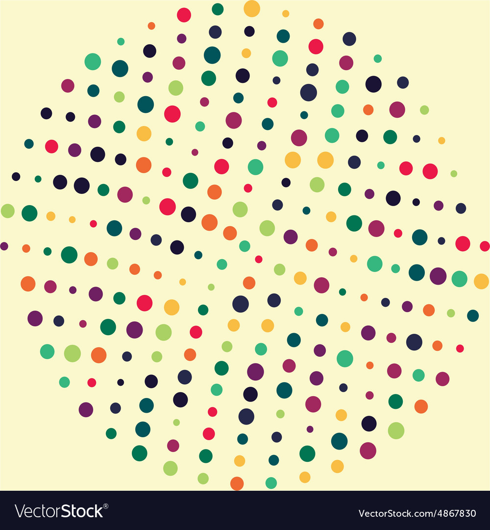 Circle dot Pattern vector image