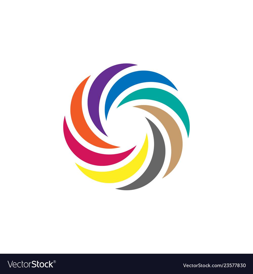 Colorful circle icon graphic design template