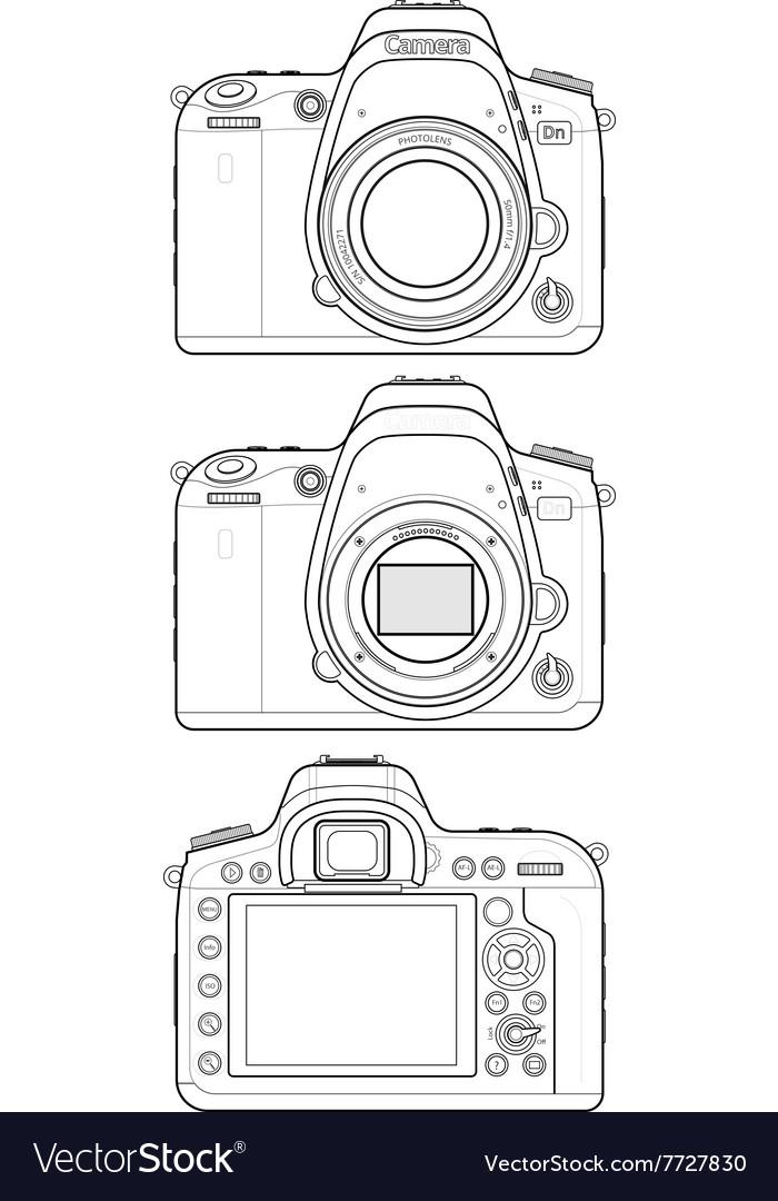 DSLR Camera Outline