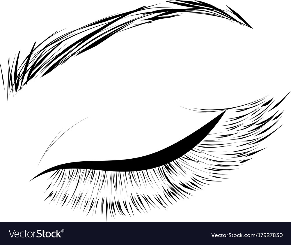Female eye drawing