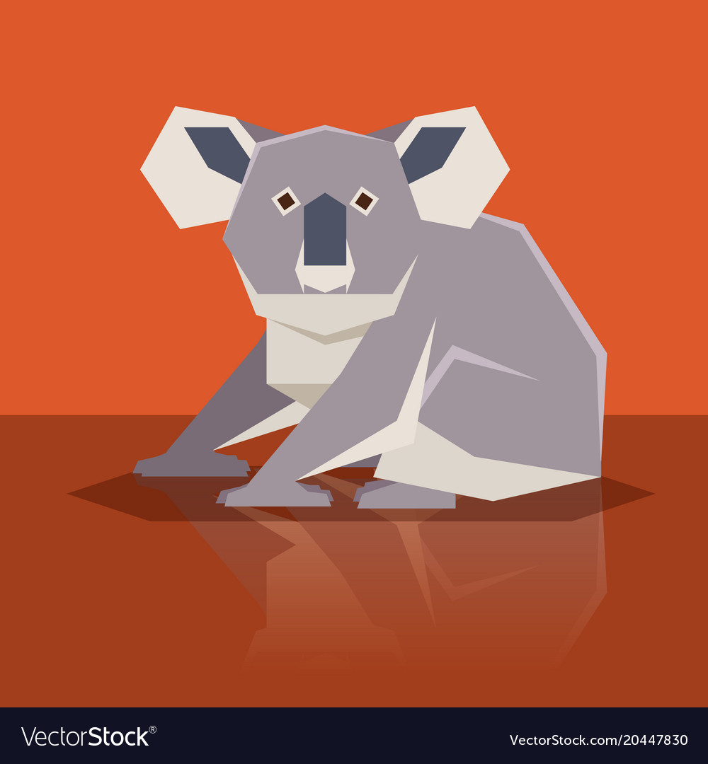 Flat design koala