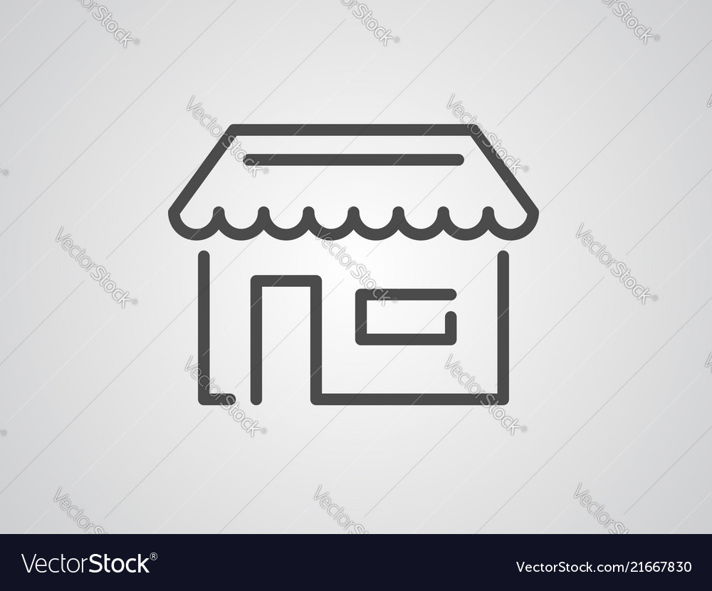 Groceries icon sign symbol