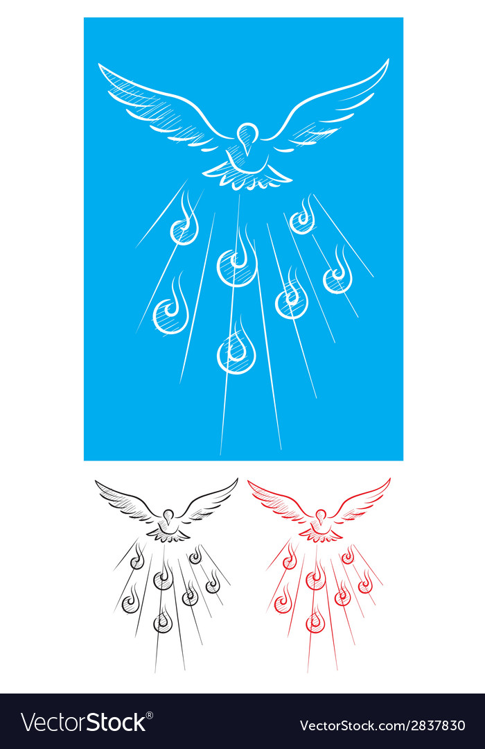 Holy spirit vector image