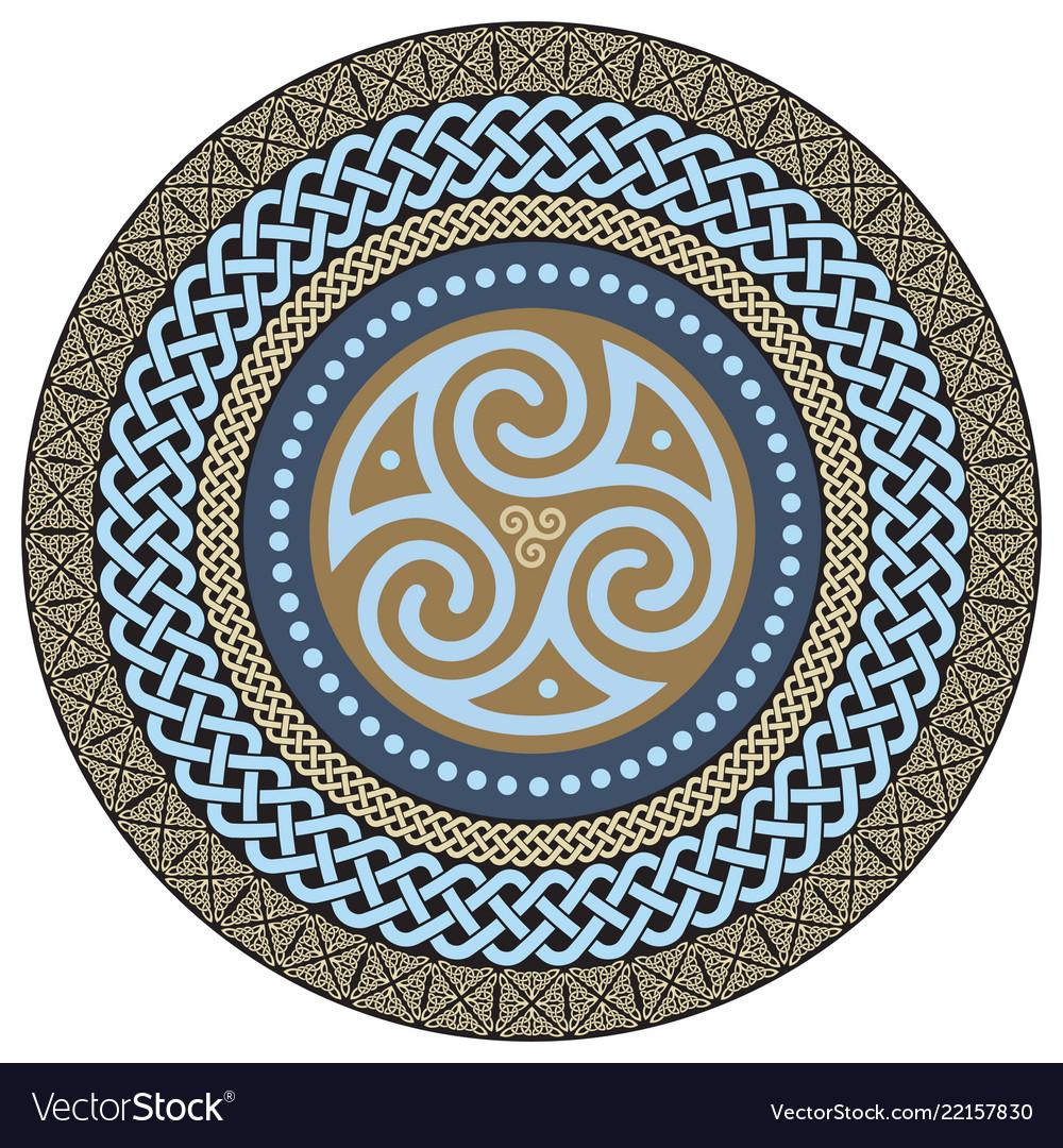 Round celtic design ancient celtic magic mandala