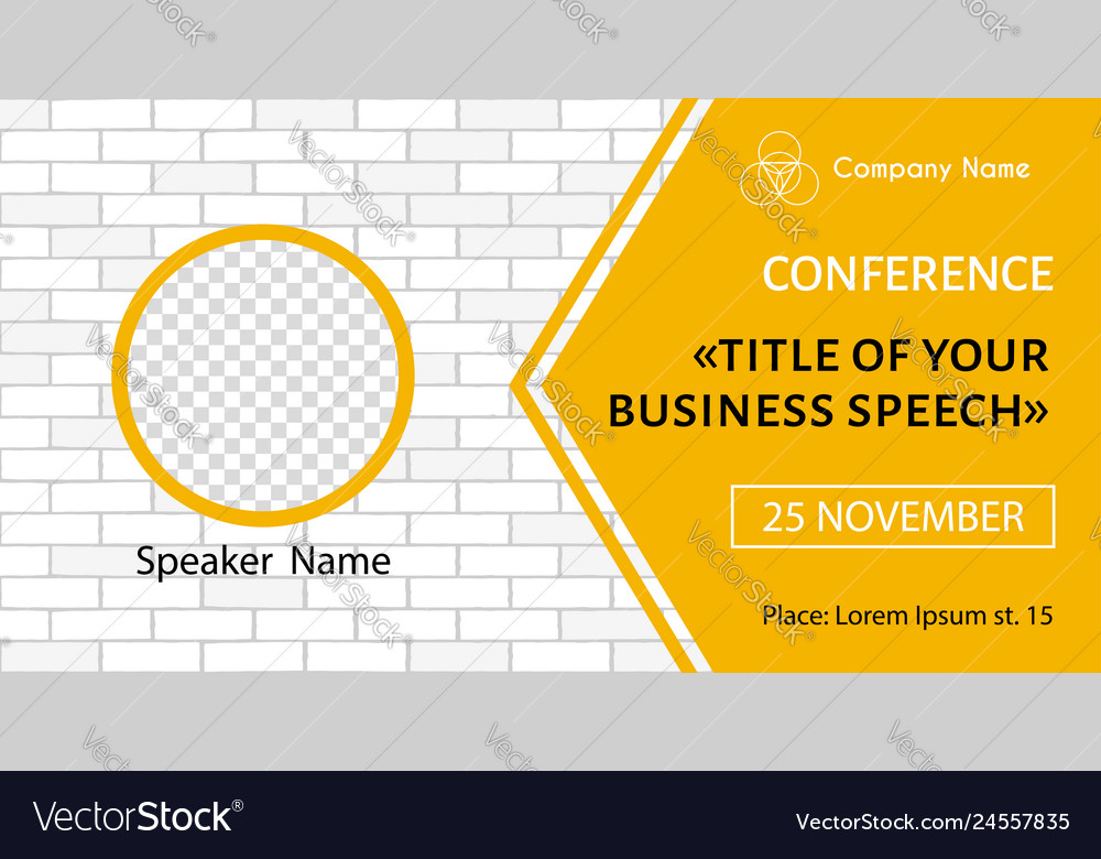 Banner template for business meeting