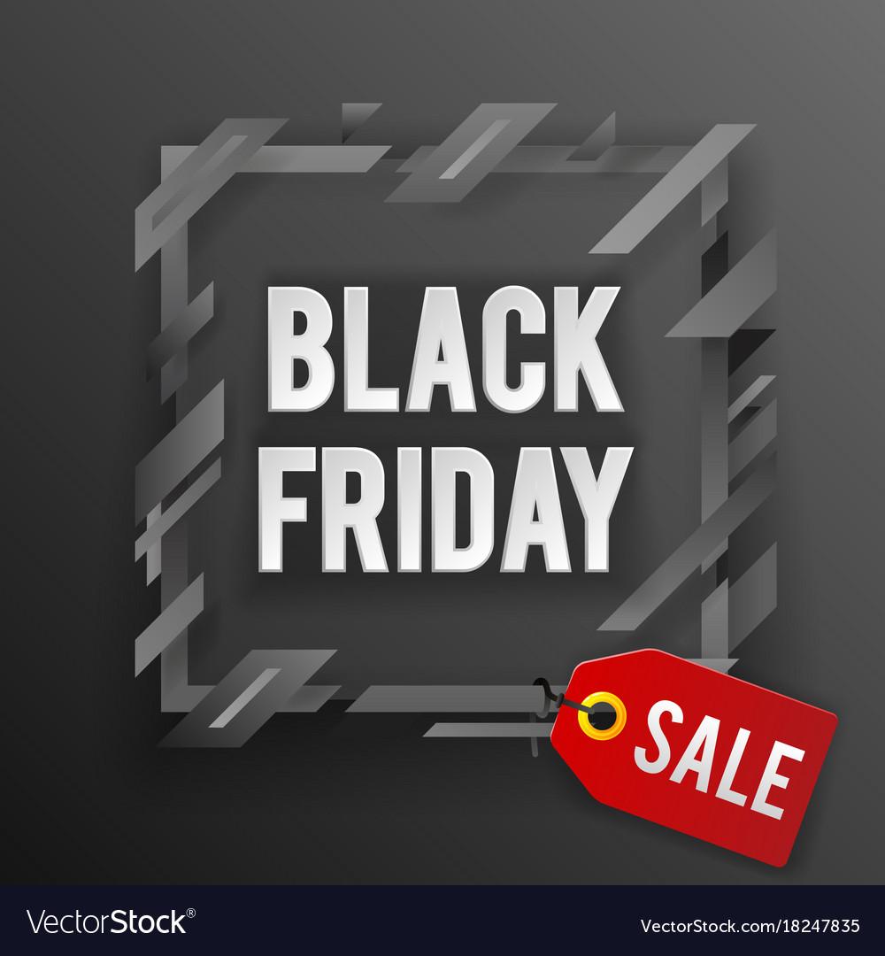 Black friday sale tag shop banner design template