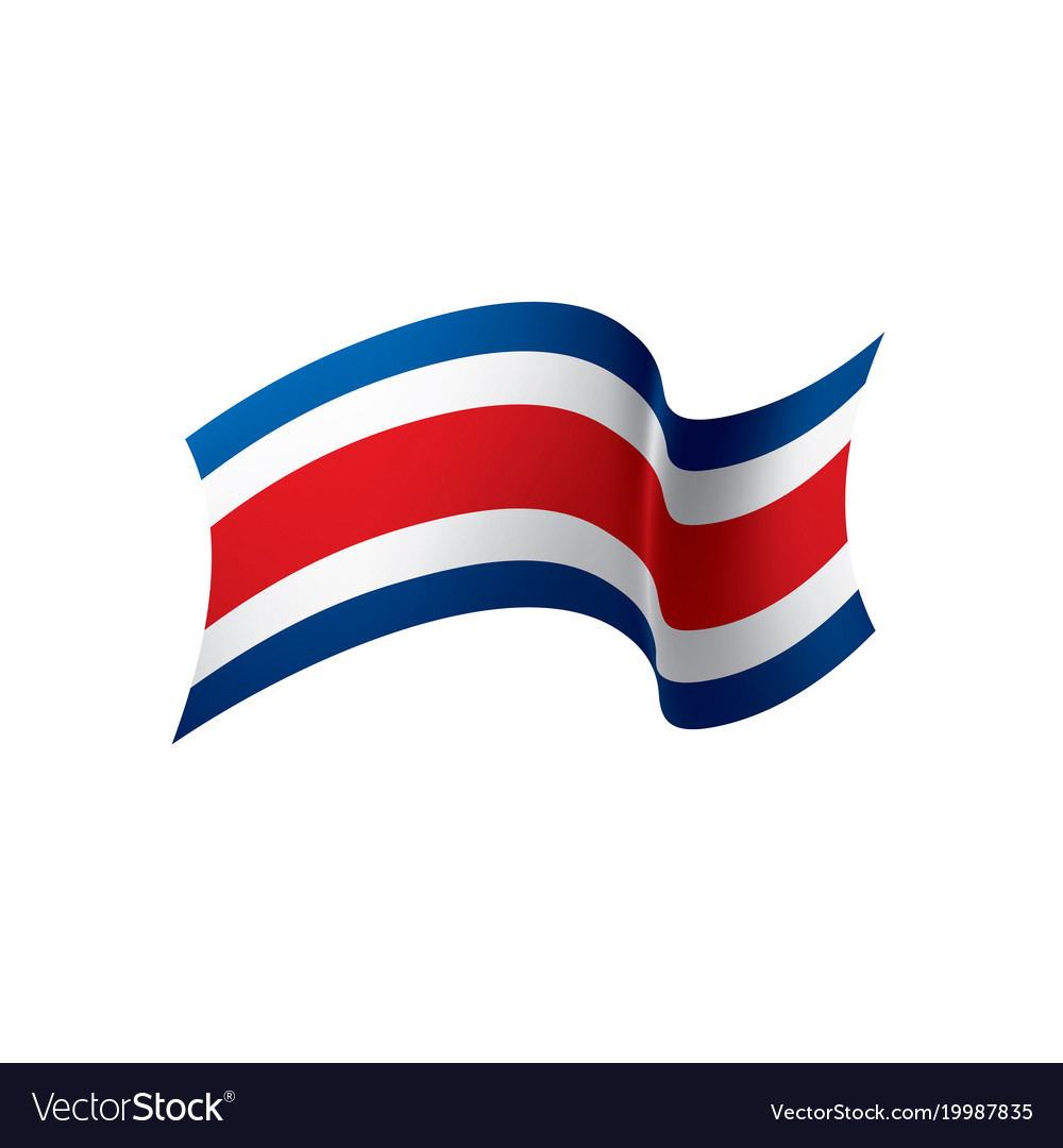costa rica flag royalty free vector image vectorstock