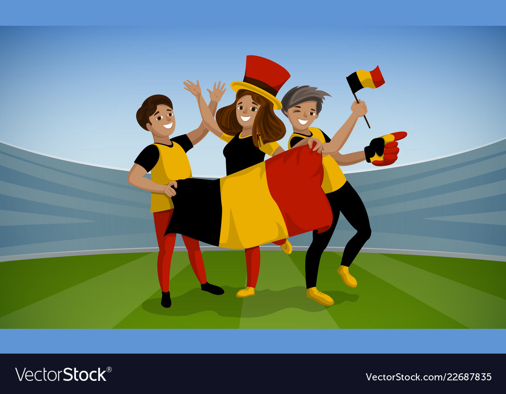 Football day concept background cartoon style