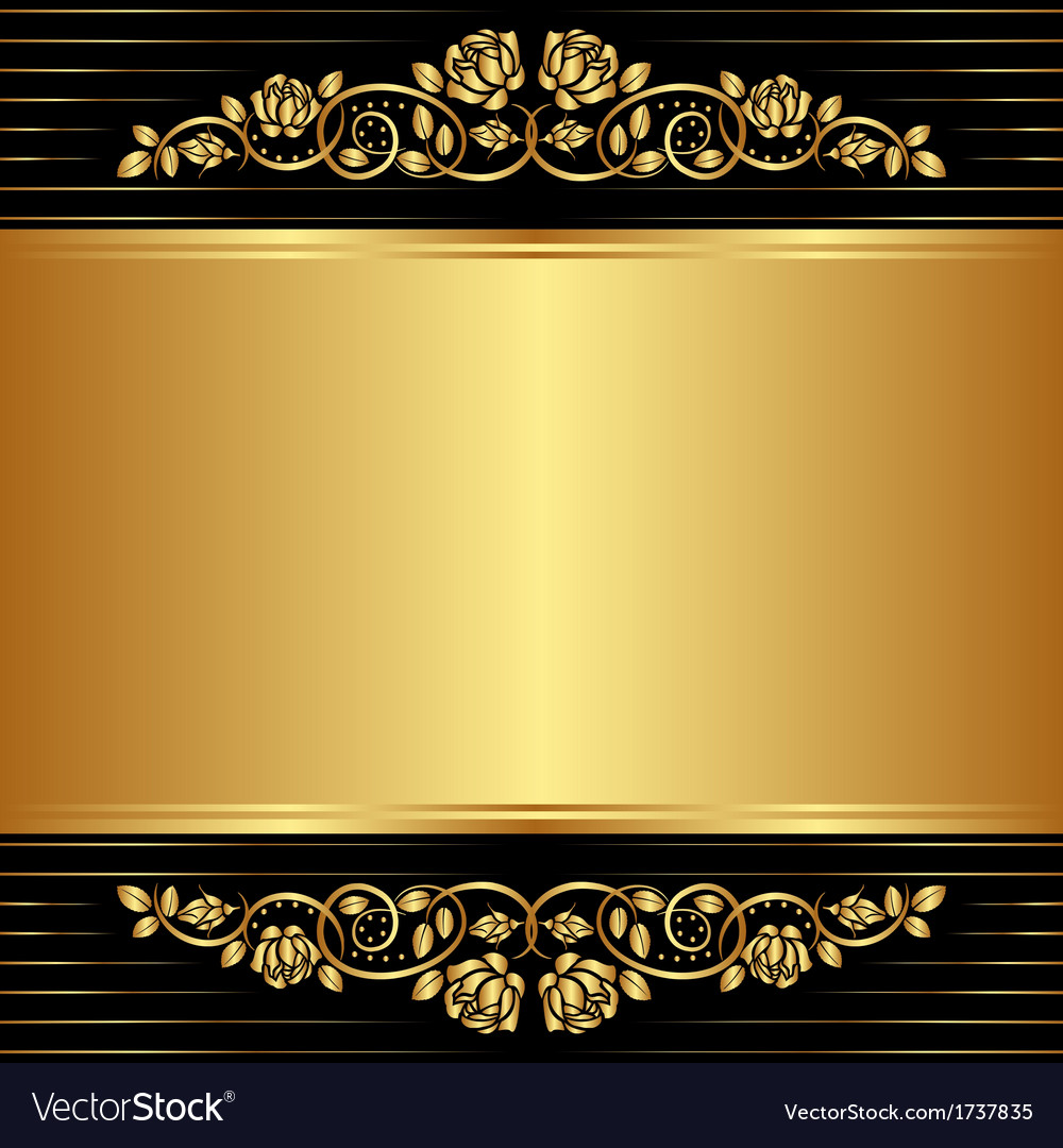 Gold Background Royalty Free Vector Image - VectorStock