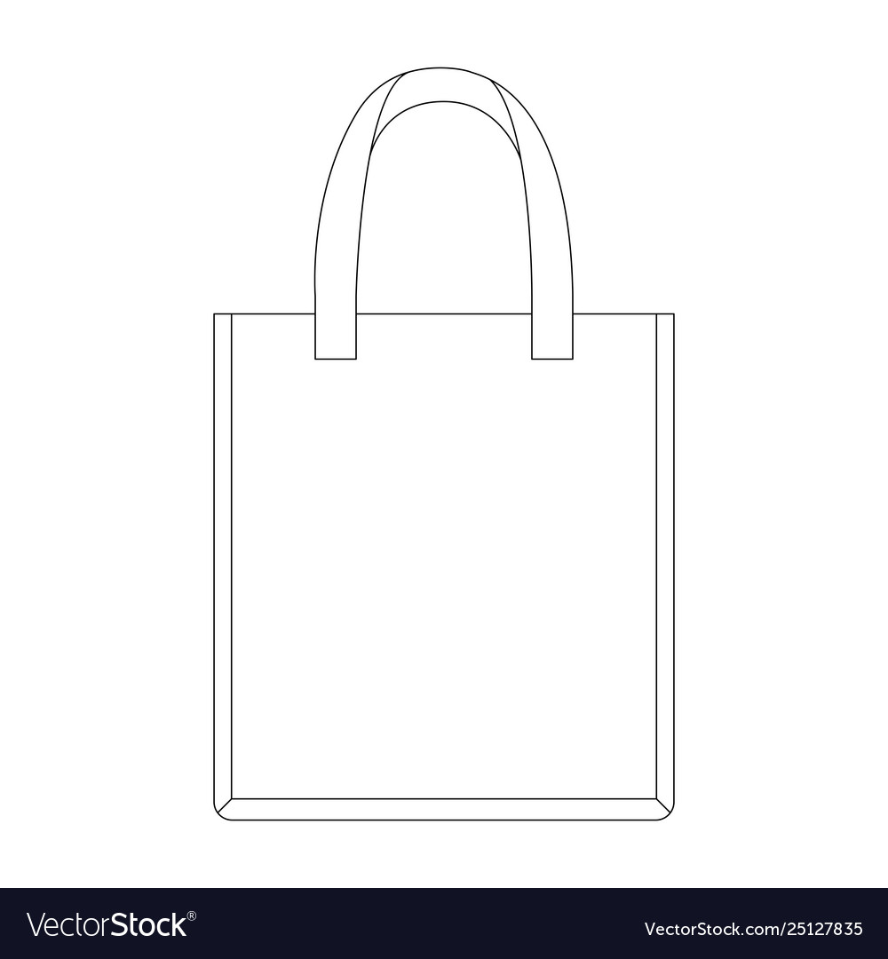 Paper bag line draw front