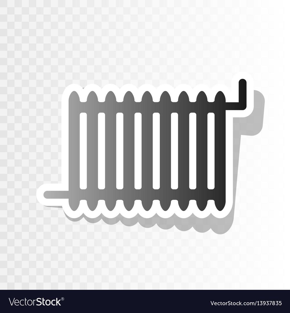 Radiator sign new year blackish icon on vector image