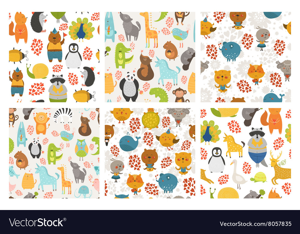 Set of animals backgrounds