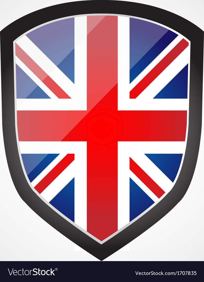 Shield with flag inside - united kingdom - uk vector