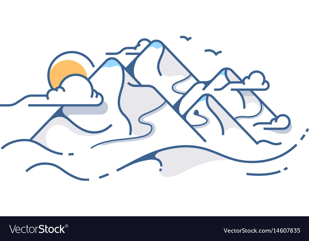 Snow covered view of mountains vector image