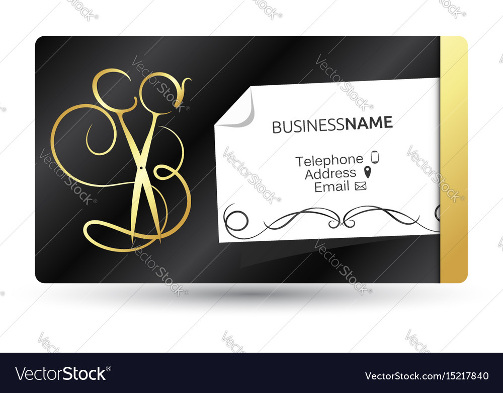Business card for beauty salon and hairdresser vector image colourmoves