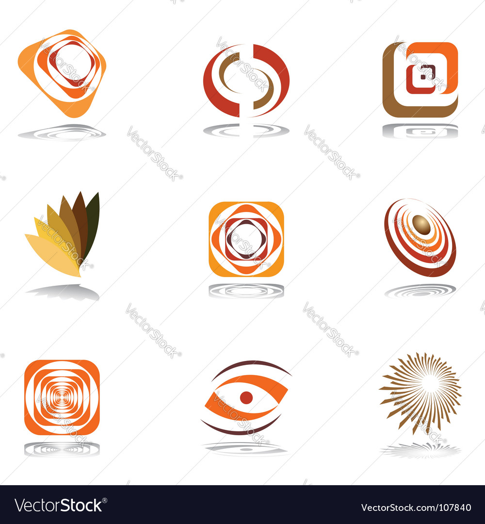 Design elements in warm colors