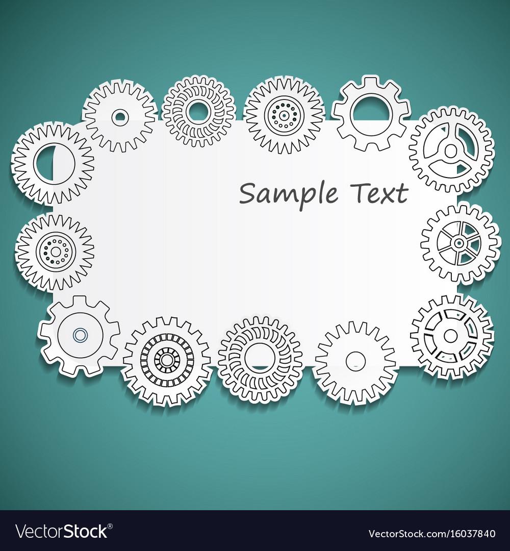 Gear frame vector image