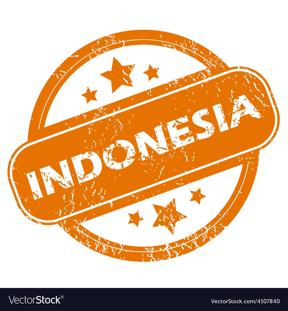 Indonesia grunge icon vector image