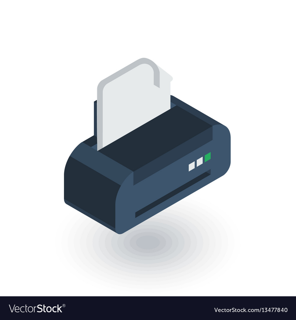 Printer isometric flat icon 3d