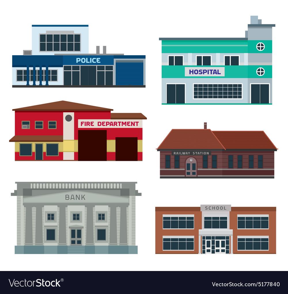 Service city buildings