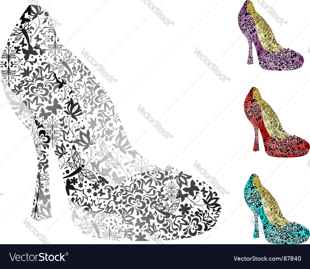 Vintage shoes vector image